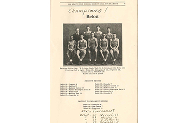 Wisconsin Basketball Tournament Champions 1932