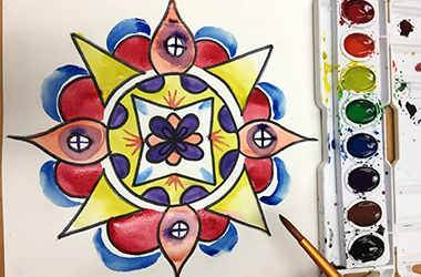 Mindful Mandalas: Meditative Watercolor Painting