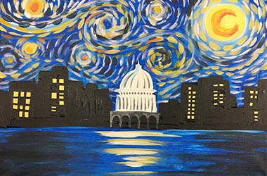 Starry, Starry Madison Night Painting
