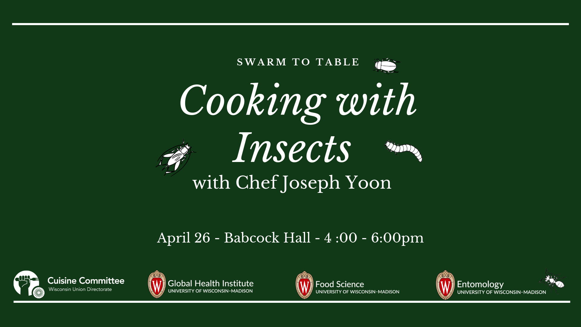 Insect Cooking Workshop