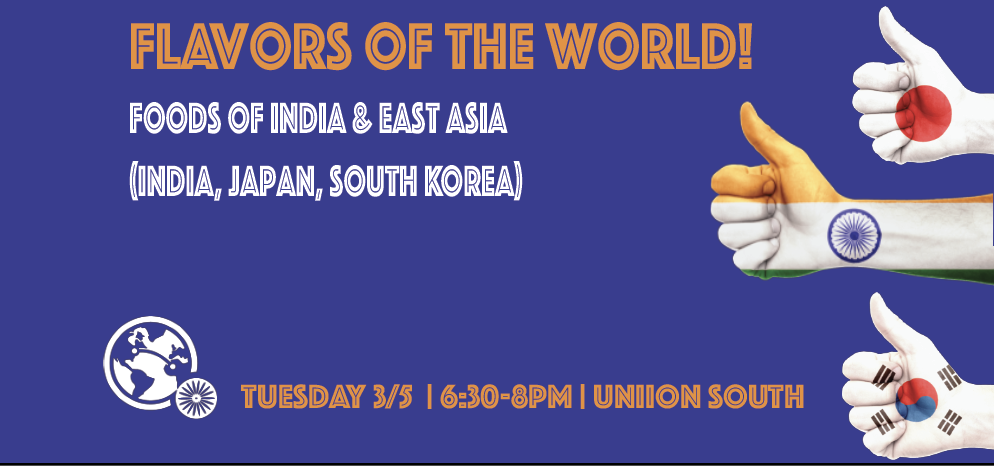 Flavors of the World: Foods of India and East Asia  Slider Image