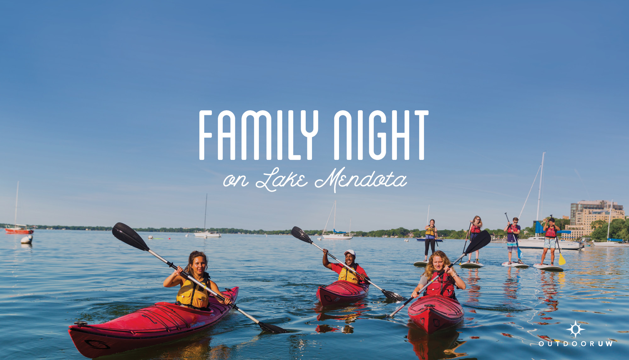 Family Night on Lake Mendota Slider Image
